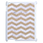CHEVRON3 WHITE MARBLE & SAND Apple iPad 2 Case (White) Front