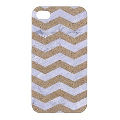 Chevron3 White Marble & Sand Apple Iphone 4/4s Hardshell Case