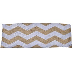 Chevron3 White Marble & Sand Body Pillow Case (dakimakura)