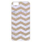 CHEVRON3 WHITE MARBLE & SAND Apple iPhone 5 Seamless Case (White) Front