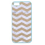 CHEVRON3 WHITE MARBLE & SAND Apple Seamless iPhone 5 Case (Color) Front