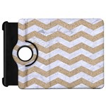 CHEVRON3 WHITE MARBLE & SAND Kindle Fire HD 7  Front