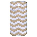 CHEVRON3 WHITE MARBLE & SAND Samsung Galaxy S3 S III Classic Hardshell Back Case Front