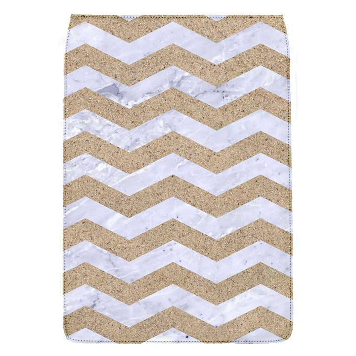 CHEVRON3 WHITE MARBLE & SAND Flap Covers (S)