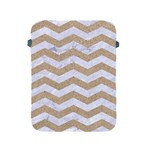 CHEVRON3 WHITE MARBLE & SAND Apple iPad 2/3/4 Protective Soft Cases Front