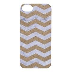 Chevron3 White Marble & Sand Apple Iphone 5s/ Se Hardshell Case