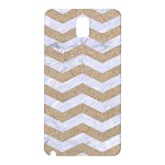 CHEVRON3 WHITE MARBLE & SAND Samsung Galaxy Note 3 N9005 Hardshell Back Case Front