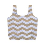 CHEVRON3 WHITE MARBLE & SAND Full Print Recycle Bags (M)  Front
