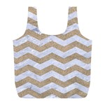 CHEVRON3 WHITE MARBLE & SAND Full Print Recycle Bags (L)  Back