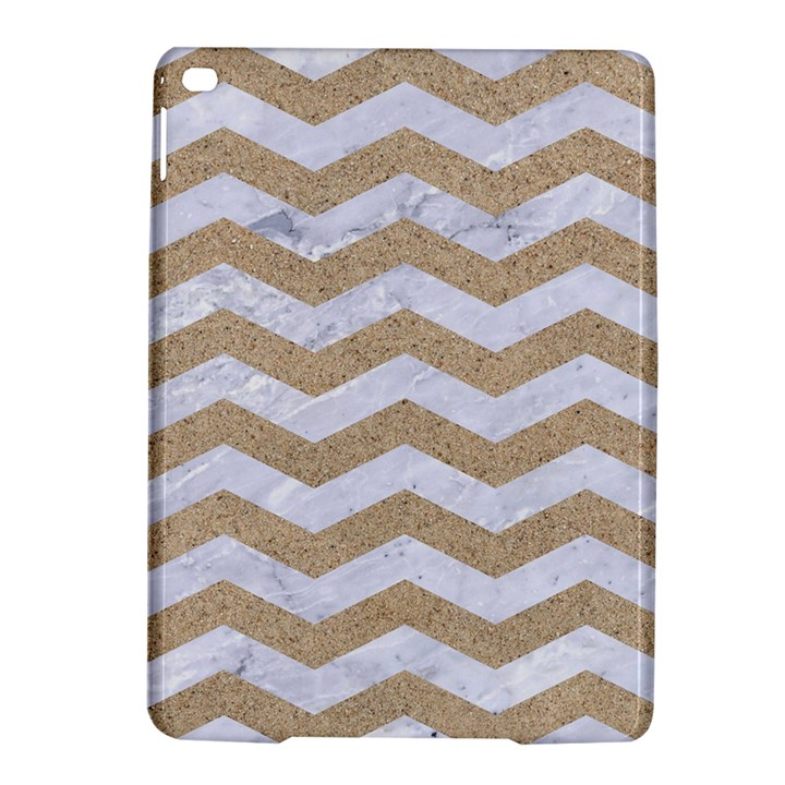 CHEVRON3 WHITE MARBLE & SAND iPad Air 2 Hardshell Cases