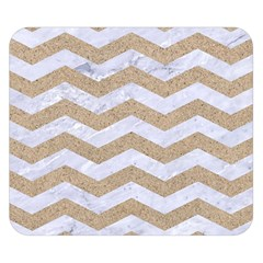 Chevron3 White Marble & Sand Double Sided Flano Blanket (small)