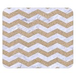 CHEVRON3 WHITE MARBLE & SAND Double Sided Flano Blanket (Small)  50 x40 Blanket Front