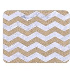 CHEVRON3 WHITE MARBLE & SAND Double Sided Flano Blanket (Large)   Blanket Back