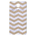 CHEVRON3 WHITE MARBLE & SAND Galaxy Note 4 Back Case Front