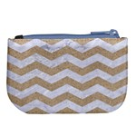 CHEVRON3 WHITE MARBLE & SAND Large Coin Purse Back