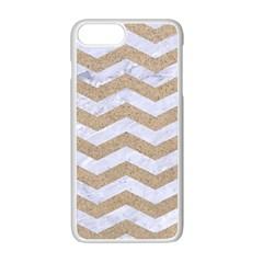 Chevron3 White Marble & Sand Apple Iphone 7 Plus Seamless Case (white)