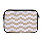 CHEVRON3 WHITE MARBLE & SAND Apple MacBook Pro 17  Zipper Case Front