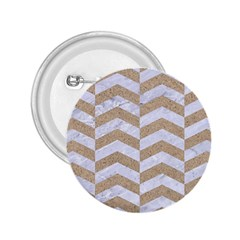 Chevron2 White Marble & Sand 2 25  Buttons