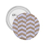 CHEVRON2 WHITE MARBLE & SAND 2.25  Buttons Front