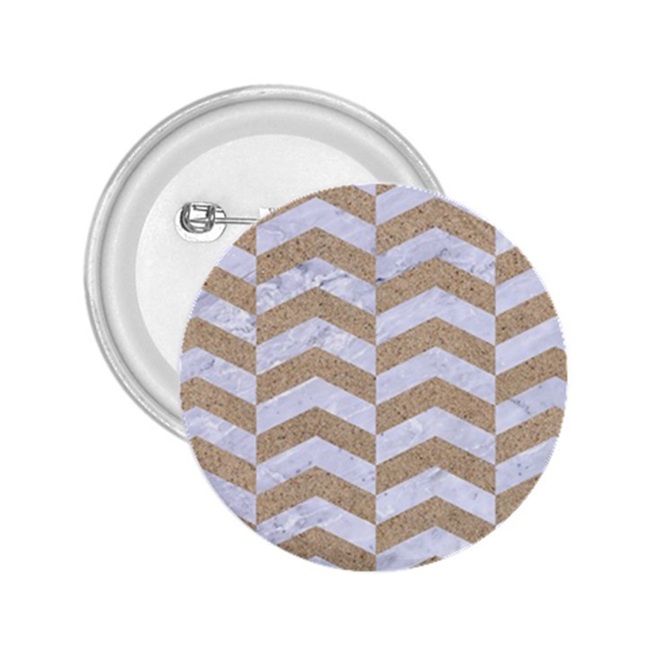 CHEVRON2 WHITE MARBLE & SAND 2.25  Buttons