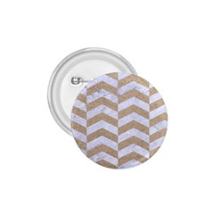 Chevron2 White Marble & Sand 1 75  Buttons