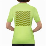 CHEVRON2 WHITE MARBLE & SAND Women s Green T-Shirt Back