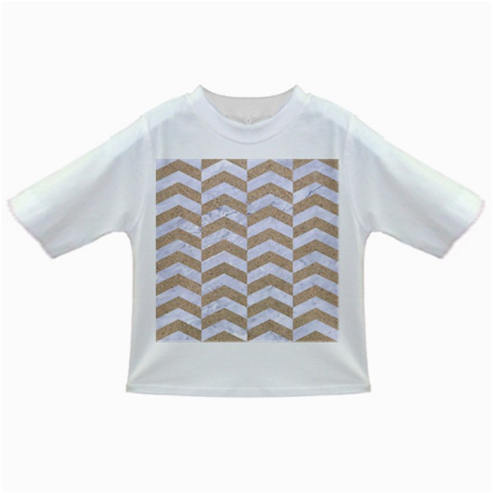 CHEVRON2 WHITE MARBLE & SAND Infant/Toddler T-Shirts