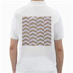 CHEVRON2 WHITE MARBLE & SAND Golf Shirts Back