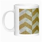 CHEVRON2 WHITE MARBLE & SAND Night Luminous Mugs Left