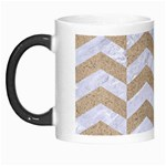 CHEVRON2 WHITE MARBLE & SAND Morph Mugs Left