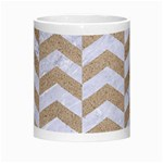CHEVRON2 WHITE MARBLE & SAND Morph Mugs Center
