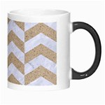 CHEVRON2 WHITE MARBLE & SAND Morph Mugs Right
