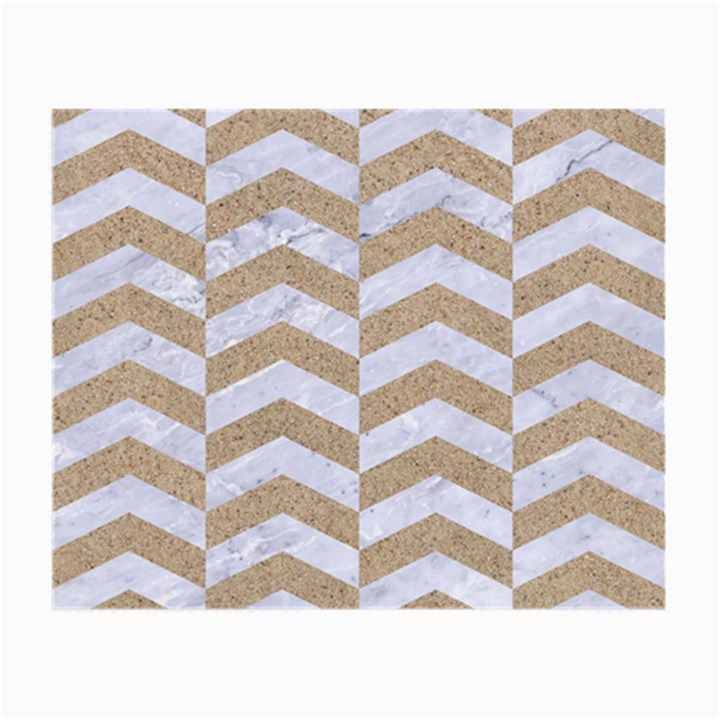CHEVRON2 WHITE MARBLE & SAND Small Glasses Cloth