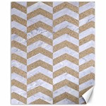 CHEVRON2 WHITE MARBLE & SAND Canvas 16  x 20   20 x16 Canvas - 1