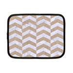 CHEVRON2 WHITE MARBLE & SAND Netbook Case (Small)  Front