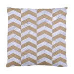CHEVRON2 WHITE MARBLE & SAND Standard Cushion Case (Two Sides) Back