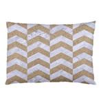 CHEVRON2 WHITE MARBLE & SAND Pillow Case 26.62 x18.9 Pillow Case