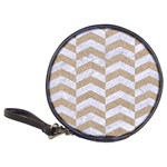 CHEVRON2 WHITE MARBLE & SAND Classic 20-CD Wallets Front