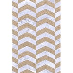 CHEVRON2 WHITE MARBLE & SAND 5.5  x 8.5  Notebooks Back Cover