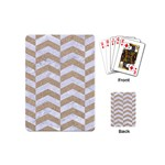 CHEVRON2 WHITE MARBLE & SAND Playing Cards (Mini)  Back