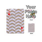 CHEVRON2 WHITE MARBLE & SAND Playing Cards 54 (Mini)  Front - HeartJ