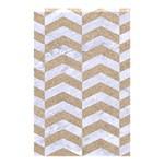 CHEVRON2 WHITE MARBLE & SAND Shower Curtain 48  x 72  (Small)  42.18 x64.8 Curtain