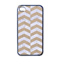 Chevron2 White Marble & Sand Apple Iphone 4 Case (black)