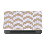 CHEVRON2 WHITE MARBLE & SAND Memory Card Reader with CF Front