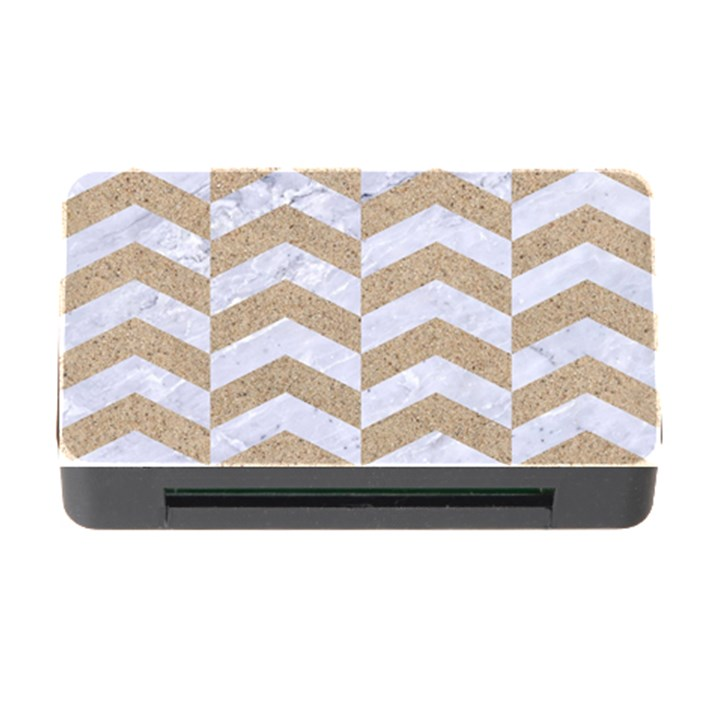 CHEVRON2 WHITE MARBLE & SAND Memory Card Reader with CF