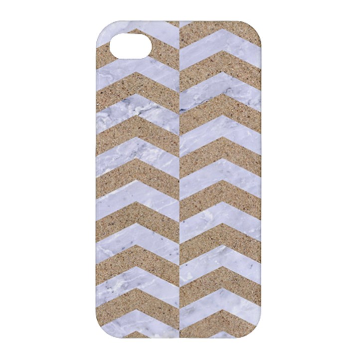 CHEVRON2 WHITE MARBLE & SAND Apple iPhone 4/4S Hardshell Case