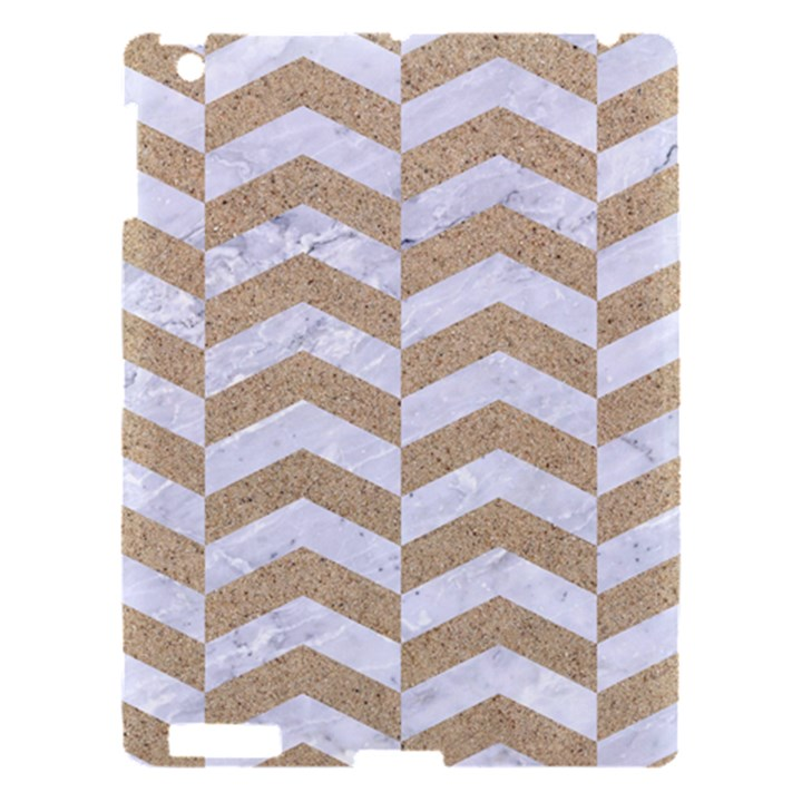 CHEVRON2 WHITE MARBLE & SAND Apple iPad 3/4 Hardshell Case