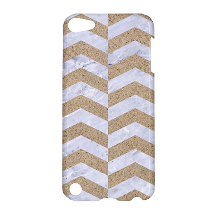 CHEVRON2 WHITE MARBLE & SAND Apple iPod Touch 5 Hardshell Case
