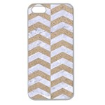 CHEVRON2 WHITE MARBLE & SAND Apple Seamless iPhone 5 Case (Clear) Front