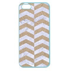 Chevron2 White Marble & Sand Apple Seamless Iphone 5 Case (color)